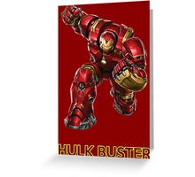 Iron Man - Hulk Buster Greeting Card