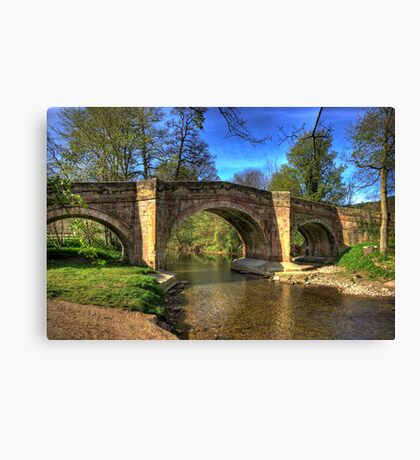 The Bridge near Scawton,North Yorkshire Canvas Print