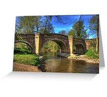 The Bridge near Scawton,North Yorkshire Greeting Card