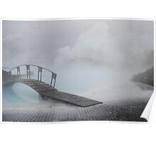 Blue Lagoon Bridge Poster