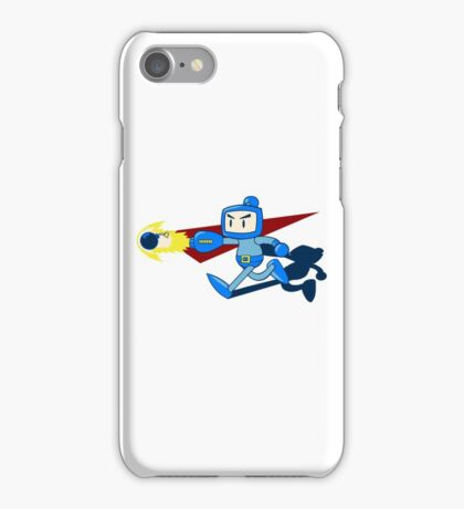 The Blue Bomber (man) iPhone Case/Skin
