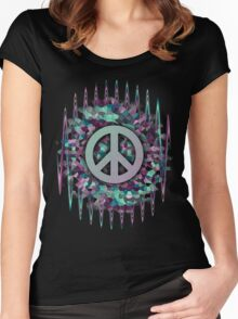 Hippie,Pease,Love,Music  Women's Fitted Scoop T-Shirt