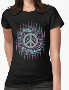 Hippie,Pease,Love,Music  Womens Fitted T-Shirt