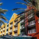 Colorful Condos and Palm Trees by dbvirago