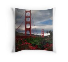 red! Throw Pillow