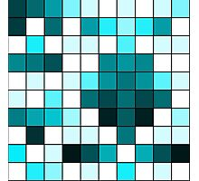 Modern Teal, Black, and White Geometric Squares Photographic Print