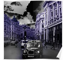 London taxi, blue version Poster