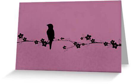 Grosbeak Silhouette by Kimberly Palmer