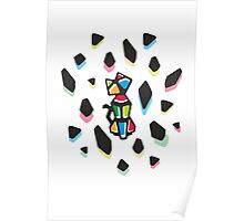 Rainbow Anigami Mr. Cat Poster