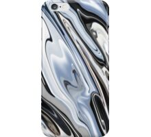 Grey and Black Metal Marbling Effect Abstract iPhone Case/Skin