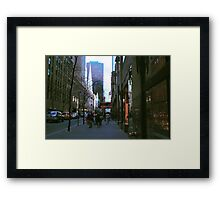 Streets of NYC Framed Print