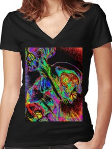 Directions Women's Fitted V-Neck T-Shirt