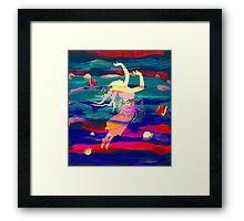 Ocean Woman Jellyfish Framed Print