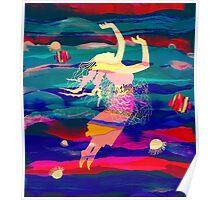 Ocean Woman Jellyfish Poster