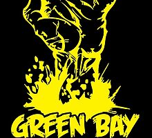 GREEN BAY BORN & BRED GREEN & YELLOW TILL I'M DEAD by BADASSTEES