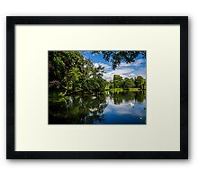Roath Park Lake Framed Print