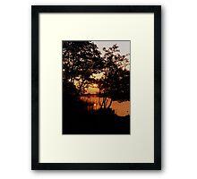 Sunset Lake Framed Print