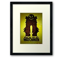Watchmen - Rorschach  Framed Print