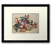 plastic flowers i painted when i was 17 or 16 (once upon a time)... Framed Print