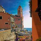 The Marina with the Church of San Giorgio - Tellaro by paolo1955