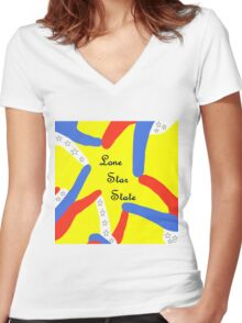 LONE STAR STATE Women's Fitted V-Neck T-Shirt