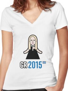 Greece 2015 Women's Fitted V-Neck T-Shirt
