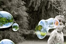 through the bubbles by Sonia de Macedo-Stewart