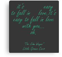 "Little Green Cars ""The John Wayne"" Canvas Print"