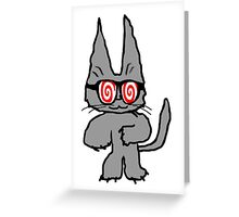 Cat Has Hypno Glasses Greeting Card