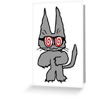 Cat Has Hypno Glasses Greeting Card