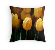 Tiptoe thru the Tulips Throw Pillow