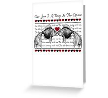 Love Kissing Fish Greeting Card
