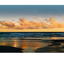 Sunset at Caves Beach Photographic Print
