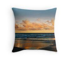 Sunset at Caves Beach Throw Pillow