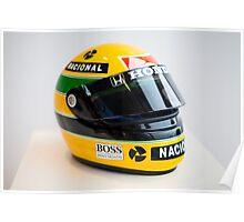 Ayrton Senna's Helmet - Legend of F1 Poster