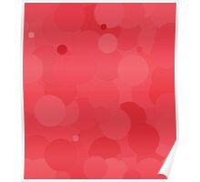 Cayenne Bubble Dot Color Accent Poster