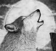 Alpha Howl by WolfPathStudio