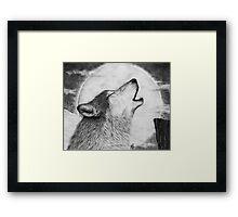Alpha Howl Framed Print