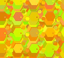 geometric seamless pattern with hexagons-3 by Ann-Julia