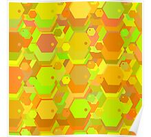 geometric seamless pattern with hexagons-3 Poster