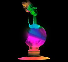 Neon Light Bulb Man by CarolM