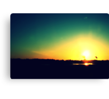 the exploding sunset Canvas Print