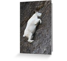 Mountain Goat on the Edge Greeting Card