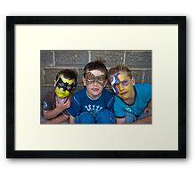 'Solemn boys' Framed Print