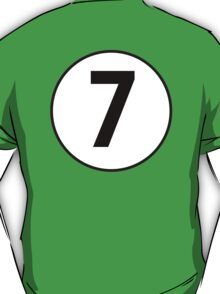 7, Seventh, Number Seven, Number 7, Racing, Seven, Competition, BRITISH RACING GREEN T-Shirt