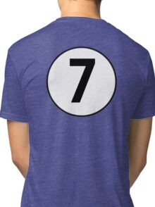 LUCKY, 7, Racing 7, SEVEN, Seventh, Number Seven, Number 7, Seven, Competition, BRITISH RACING GREEN Tri-blend T-Shirt
