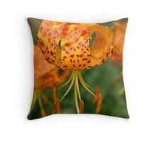 Spotted Humboldt Lily Throw Pillow