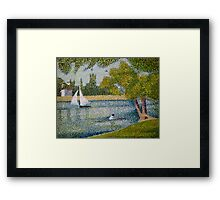 The Seine at La Grande Jatte Framed Print