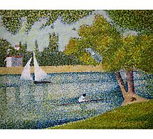 The Seine at La Grande Jatte Photographic Print