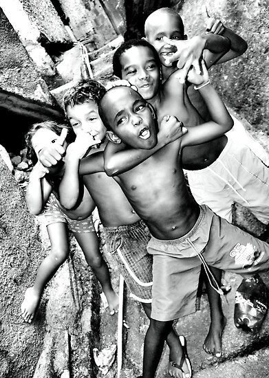 Can you feel it! Rocinha Children, Rio de Janeiro Brazil 2009 by NatashamenoN PhotographY